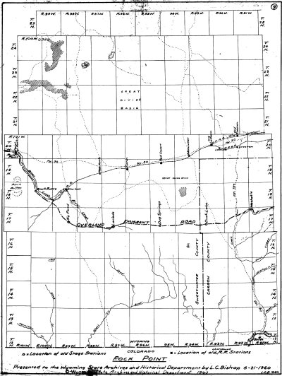 L. C. Bishop Emigrant Trail Map Series --  Rock Point Overland Trail